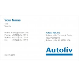 Business Card (Autoliv Americas)