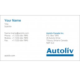 Business Card (Autoliv Canada)