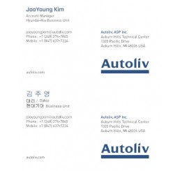 Business Card Autoliv America (English & Korean)