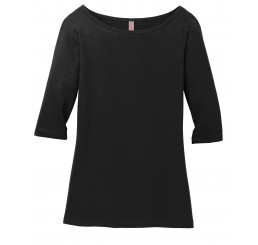 District Made® Ladies Perfect Weight® 3/4-Sleeve Tee.