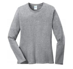 Port & Company® Ladies Long Sleeve 5.4-oz 100% Cotton T-Shirt