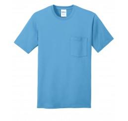 Port & Company® 5.4-oz 100% Cotton Pocket T-Shirt